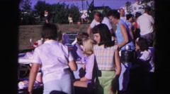 1962: a picnic in a garden area is seen HAGERSTOWN, MARYLAND Stock Footage