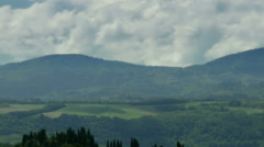 Clouds moving over Tuscany Landscape - 25FPS PAL Stock Footage