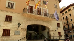 Ajuntament in Soller, Mallorca Stock Footage