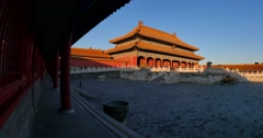 Forbidden city Beijing  sun set down Stock Footage