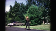 1962: a man is seen playing HAGERSTOWN, MARYLAND Stock Footage