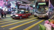 Hong Kong Street in the evening. Stock Footage