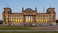 Reichstag Building, West facade, Berlin, Germany Stock Footage