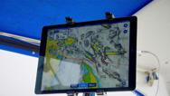 4K Digital Nautical Navigation Map, Sea Chart Navigational Digram Stock Footage