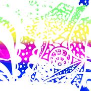 Boho winter pattern Stock Illustration