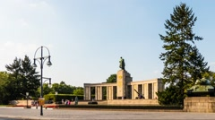 Soviet War Memorial (Tiergarten) Stock Footage