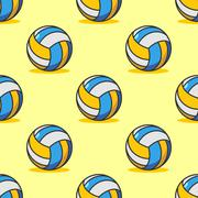 Volleyball seamless pattern. Sports accessory ornament. Volleyball background Stock Illustration