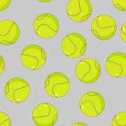 Tennis ball seamless pattern. Sports accessory ornament. Tennis background. T Stock Illustration