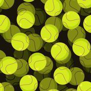 Tennis ball 3d seamless pattern. Sports accessory ornament. Tennis volume bac Stock Illustration