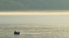 Sailing fishing boat at early morning. Stock Footage