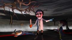Halloween Evil Puppet Stock Footage