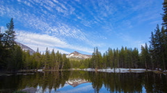 MoCo Tracking Timelapse of Sunset at Alpine Lake in Yosemite -Tilt Down- Stock Footage