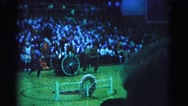 1962: team of dancers in a large gymnasium waiting for rally HAGERSTOWN Stock Footage