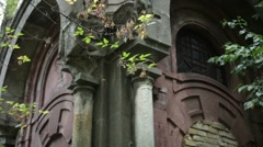 Old crypt in cemetery Stock Footage