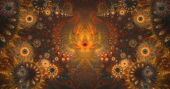 4K abstract symmetry texture pattern motion background seamless looping fractal Stock Footage