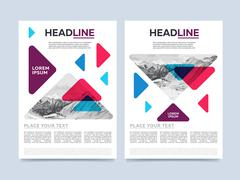 Cover design for annual report or brochure Stock Illustration