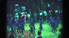 1962: halftime show HAGERSTOWN, MARYLAND Stock Footage
