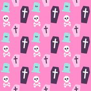 Trendy Colors Death Halloween Pattern Stock Illustration