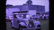 1962: car event attraction 1920's vehicles antique collectors HAGERSTOWN Stock Footage