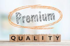 Premium quality bade made of wooden blocks Stock Photos