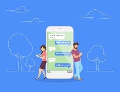 Chat talk concept illustration Stock Illustration