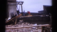 1962: a construction area beside a mud CHICAGOLAND AREA Stock Footage