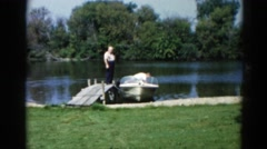 1962: a boat is seen CHICAGOLAND AREA Stock Footage
