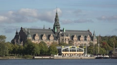 Nordic Museum in Stockholm city     -Sweden Stock Footage