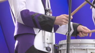 Close up of  Man playing a drum. Slow Motion Stock Footage