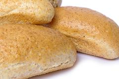 Bread With Bran On A Light Background Stock Photos