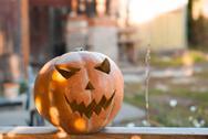 Jack-o ' - lantern outdoors. The Eve Of Halloween Stock Photos