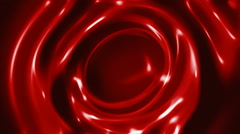 Red slow swirling liquid abstract motion background Stock Footage