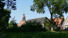 Small or Lovely Lady Church in Vollenhove Stock Footage