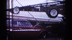 1962: a car is seen CHICAGOLAND AREA Stock Footage