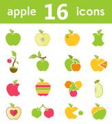 Vector set of logos and symbols of apples Stock Illustration