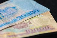Vietnamese banknotes close up Stock Photos