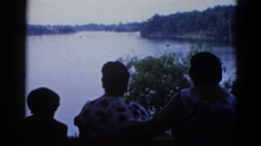 1962: family gathering at the lake. CHICAGOLAND AREA Stock Footage