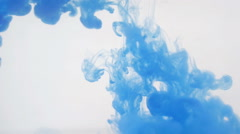 Blue abstract wavy background. Ink in water. HD Stock Footage