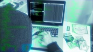Source Code Hacker Typing In Cyberspace Stock Footage