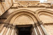 Holy Sepulchre Cathedral at sunset, Jerusalem Stock Photos