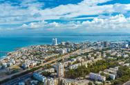 Aerial View of Haifa city Stock Photos