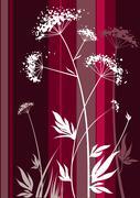 Retro plant Stock Illustration