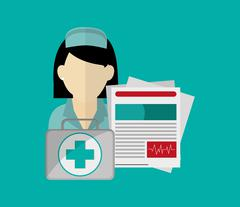 Health insurance related icons image Stock Illustration