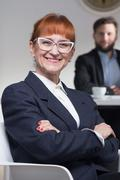 Stylish job interviewer in corporation Stock Photos