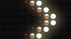Led Stage Lights Par Wall Background Stock Footage