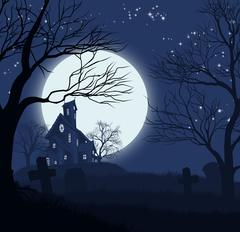 Halloween House Background Stock Illustration