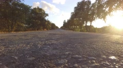 Empty rural road at sunset in Alentejo portugal steady shot 4k Stock Footage