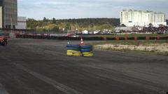 Racing Car Maneuvers Stock Footage