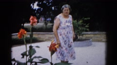 1962: a open garden scene CHICAGOLAND AREA Stock Footage