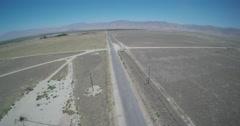 Aerial Desert Road HighFlyover Stock Footage
